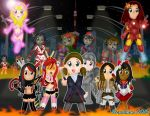 Chibi Halloween 2015 by DannimonDesigns