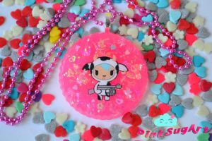 Kawaii Pink Resin Pendant!! by Liakious