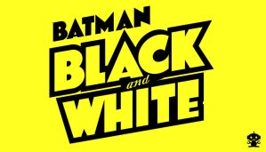 1996 Batman Black and White Comic Title Logo by HappyBirthdayRoboto