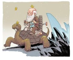 Happy Darwin Day by cliff-rathburn