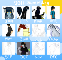Art Summary 2011 by CloakedNobody