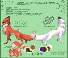 Abby Charakter Sheet by RukiFox