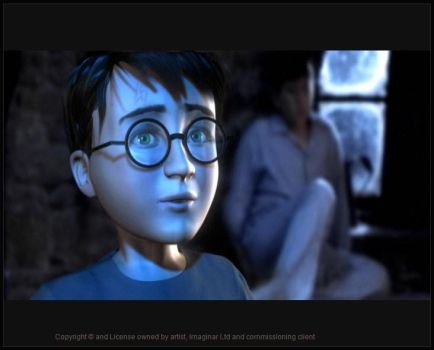 3d model of a young harry potter for EA by imaginaruk