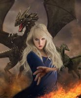 With fire and blood (Targaryen) by Liancary-Stock