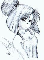 Pen Sketch Girl 1 by lily7777