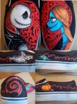 Jack and Sally Vans by Tantrum-Smilez