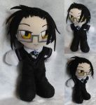 Commission, Mini Plushie, Claude Faustus by LadyoftheSeireitei