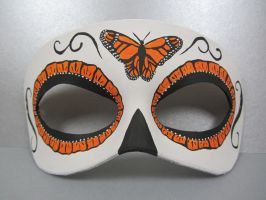 Day of the Dead Monarch mask by maskedzone