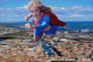 Supergirl in Sète by totoletoto