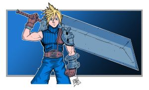 Cloud Strife by LloydBridgemanInk
