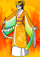 Lost Miko of the Sacred Fire by Pencil-Artisan
