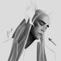 W.I.P. Thranduil by WolverinePanda