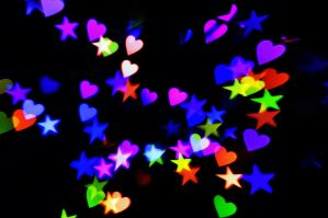 Heart + Star Bokeh Texture 2 by LDFranklin