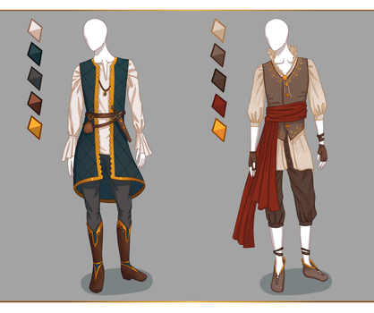CLOSED Fashion adoptables - Male outfits #1 by ayleidian