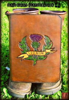 Scotland leather notepad cover by Half-Goat