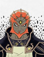 Ganondorf Coloring W.I.P. by kuhu