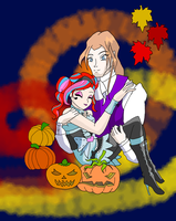 Bloom and Valtor Halloween by goodwinfangirl
