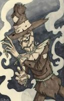 Scarecrow Inktober by Joeville