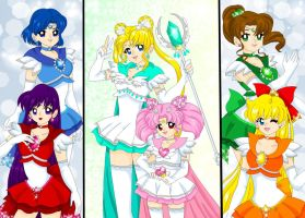 Crystallized Senshi by Sailor-Serenity