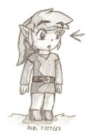 Toon Link Church Doodle by TheGreenDragonGirl