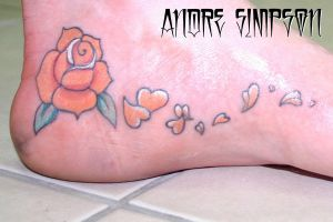 Rose and cherry blossom tattoo by ERASOTRON