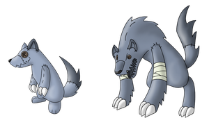 Fakemon werewolves by Furgemancs