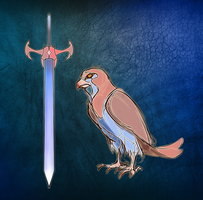 Falcon Sword by lwyn