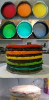 Super Epic Rainbow Cake process by 1-Lilith-1