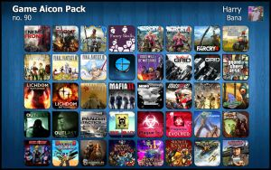 Game Aicon Pack 90 by HarryBana