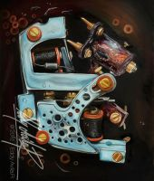 Tattoo Machine-Dickie Golden by eddy-avila-r