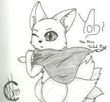Yobi Fox Form (pencil) by niNjaKatt135