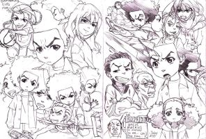 Boondocks sketches by joodlez