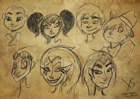 Xiaolin Doodles by Alias-Hugo