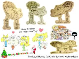 Merry Xmas and Happy New Year from The Loud House by Bart-Toons