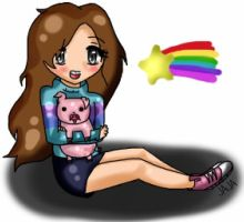 Gravity Falls: Mabel and Waddles by ariannejae