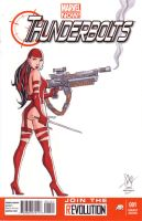 Elektra Thunderbolts Sketch Cover by calslayton