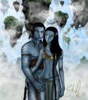 Jake And Neytiri in Hallelujah by kina84