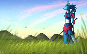:commission: Listening to the wind by AntaresIceslayer