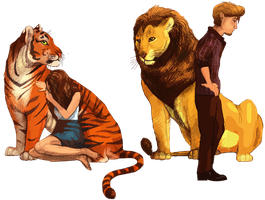 As different asTigers and Lions by DancingfoxesLF