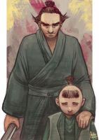 Daily Sketches Lone Wolf and Cub by fedde