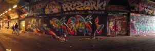 graff under the brigde by stucker1987