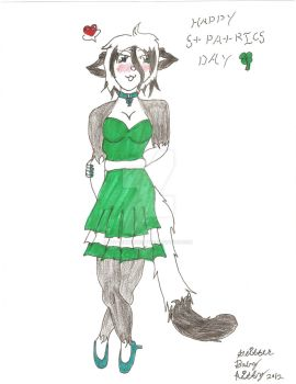 glitter in her st patricks day dress by GlitterbabyKitty