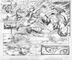 Supergirl vs Lobo by Cinar