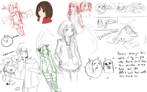 Sketch Dump.. again lmao by Togamicchi