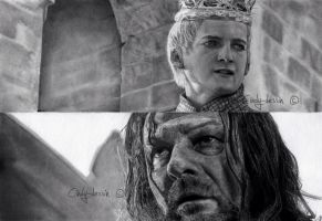 Joffrey BARATHEON, Eddard STARK from GoT by cindy-drawings