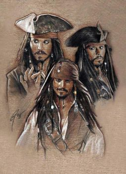 Jack Sparrow expressions by GabeFarber