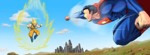 Superman VS Goku by KanO5Forty