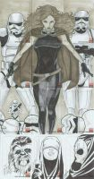 Star Wars sketch cards 01 by martheus