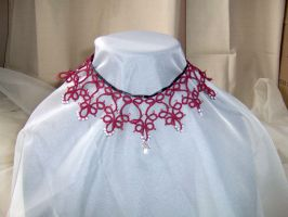 Tatted Choker 05 by Dorothy-T-Rose