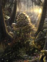 fungi forest by TheArtofSaul